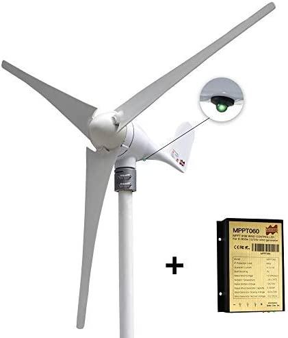 Marsrock Small Wind Turbine Generator AC 24Volt 400W Economy Windmill with MPPT Controller for product image