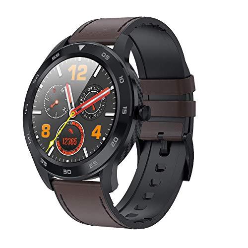 DSY Herren Business Smartwatch, EKG PPG Hrv Gesundheit Smart Uhr Mit Kalorien Temperatur Herzfrequenz Überwachung GPS Take Bilder 25 Funktionen, B2 Stimmenkontrolle / F6