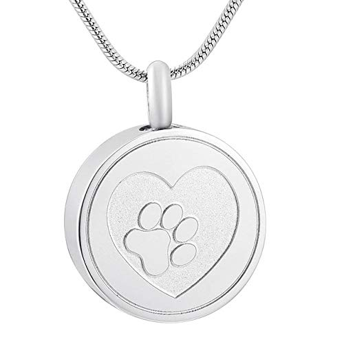 Gather together 50pcs Pendant Only 1 Klh9883 Paw On My Heart Forever Memorial Urn Necklace for Pet Ashes,Wholesale Pet Dog Paw Print Cremation Necklace Jewelry