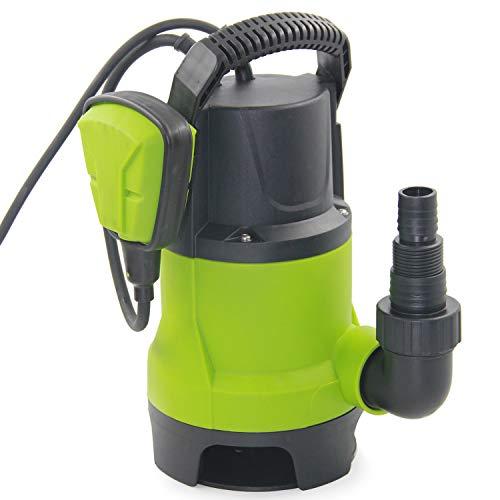 FLUENTEC Pompe d'évacuation, Pompe Submersibles Portable pour eaux Claires et chargées, 400W, Max.8000L/H