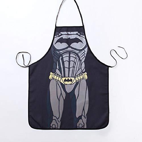 Delantal Divertido del superhéroe Batman Delantal de la Cocina Cena Delantal de Cocina del Delantal de Adulto 1pc (Color : 1, tamaño : 54cmx72cm)