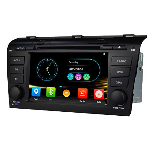 7 Inch Car Stereo Radio Navigation Fits for Mazda 3 2004 2005 2006 2007 2008 2009 DVD Player Double Din in Dash HD Touch Screen Multimedia Head Unit Navi Auto Audio GPS Bluetooth