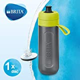 BRITA Water Filter bottle Active, reduces chlorine and organic impurities, BPA free, Lime, 600ml