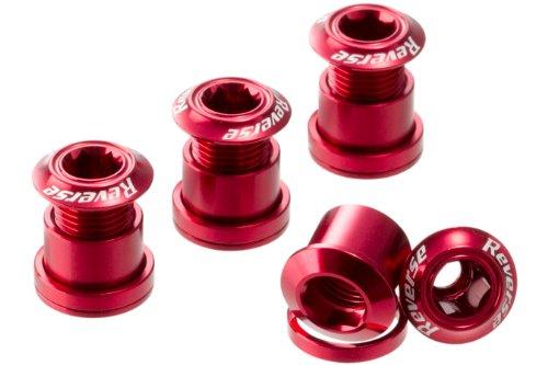Reverse Kettenblattschrauben 4er Set Aluminium rot