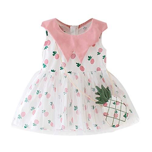 Mädchen Kleider Festlich, Weant Baby Kleidung Mädchen Outfits Ananas drucken Mesh Röcke Sets Prinzessin Kleider FüR Kinder Mädchen Kleidung Partykleid Chiffon Kleid Baby Tägliche Kleidung Pullover