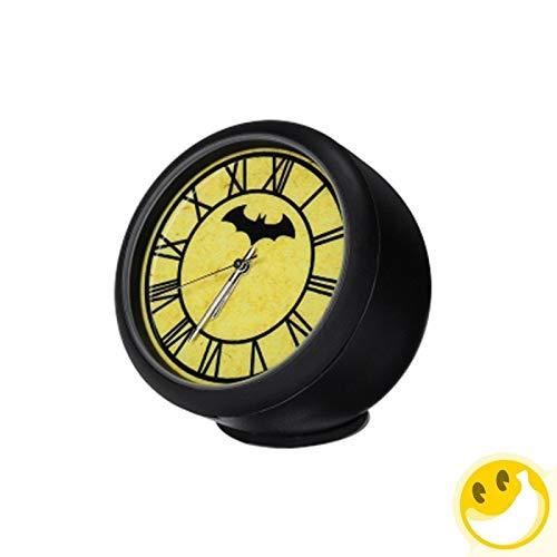 LKJG Justice Alliance Thème de Style Batman Automobile Voiture Horloge numérique Montre Automatique Automobile Décoration Ornement Horloge en Voiture (Color Name : Yellow)