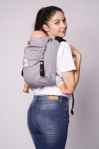 Portabebés: KOKADI® Onbu – Just Stone ✓ Recién nacidos y niños pequeños ✓ Ergonómico ✓ Puente ajustable ✓ Algodón orgánico ✓ Desde el nacimiento ✓ Bolsa gratis (7-20 kg))