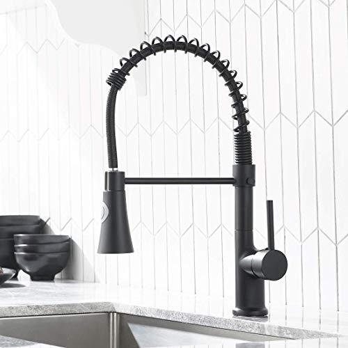 GIMILI waterkraan keuken mengkraan keukenkraan met douche uittrekbaar 360 draaibaar armatuur voor keuken zwart