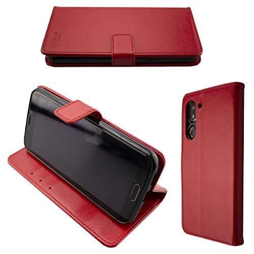 caseroxx Handy Hülle Tasche kompatibel mit Doro 8080/8062 Bookstyle-Hülle Wallet Hülle in rot