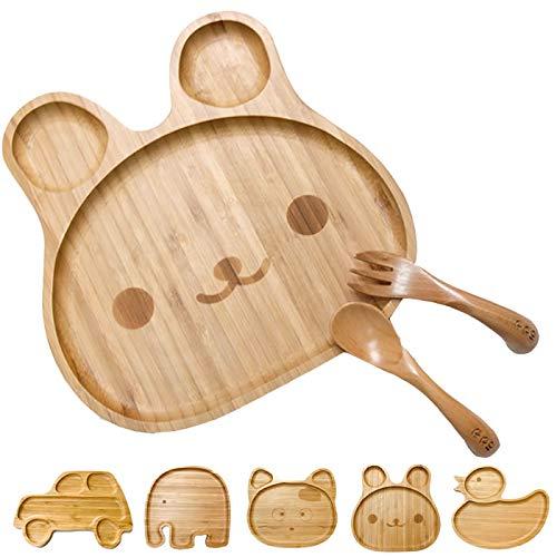 出産祝い 男の子 女の子 名入れ 食器 プレート スプーン フォーク セット (usagi)