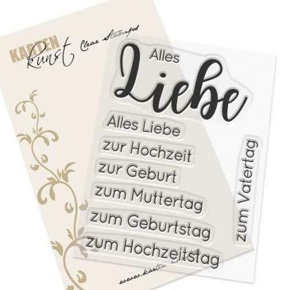 Karten-Kunst-Stempel Clear Stamp Stempelgummi - Riesige Wünsche Alles Liebe