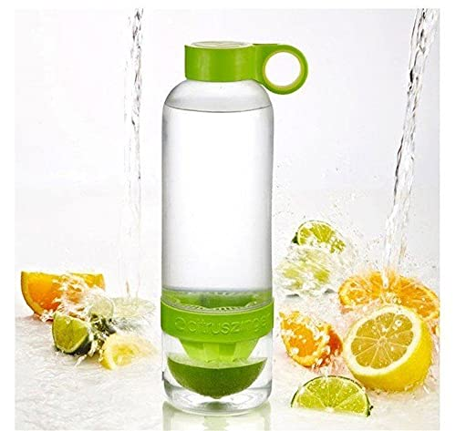Lemon Cup 2015 Juice Source Vitality Water Bottle Fruit Cup Drinkware for outdoor fun & sports --- Color : Green