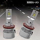 ウィッシュ 10後期/20系 ロービーム ハロゲンライト⇒LED化 H11形状 LEDヘッドライト コンパクト設計 9200ルーメン 6500K LEDライト LEDバルブ 2本組