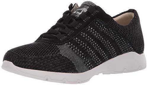 Dansko Women's Adrianne Sneaker, Black Washed Knit, 41 M EU (10.5-11 US)