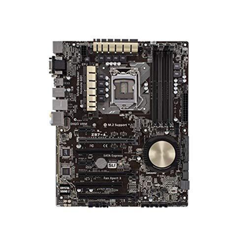 Diecast master Placa base de escritorio utilizada, Asus Z97-A Desktop Motherboard Z97 LGA 1150 Fit para Core i7 i5 i3 DDR3 SATA3 USB3.0 Desktop Motherboard