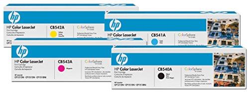 HP Original 125A Toner 4er Set schwarz, Cyan, Magenta, gelb(CB540A, CB541A, CB542A, CB543A)