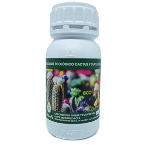 CULTIVERS Fertilizante Liquido Ecológico Cactus y Crasas de 250 ml. Crecimiento Saludable...