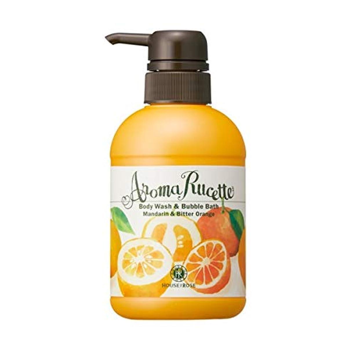 ワイド付属品チャップHOUSE OF ROSE(ハウスオブローゼ) ハウスオブローゼ/アロマルセット ボディウォッシュ&バブルバス MD&BO(マンダリン&ビターオレンジの香り)350mL