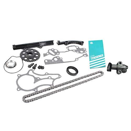 DNJ TK900 Timing Chain Kit for 1985-1995 / Toyota / 4Runner, Celica, Pickup / 2.4L / SOHC / L4 / 8V / 2366cc / 22R, 22RE, 22REC, 22RTEC