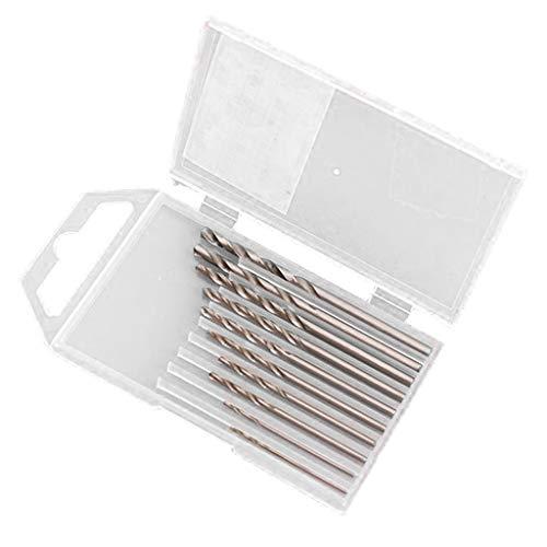 freneci High Steel Drill Bit Set 10 Piece HSS Straight Shank Twist Drill Bits