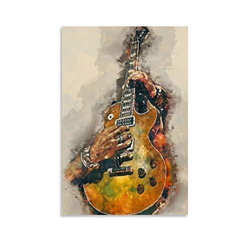 Póster de guitarra eléctrica de Slash y arte de pared, impresión moderna,...