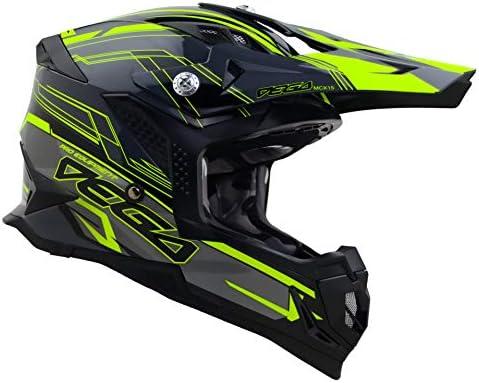 Vega Helmets Unisex Adult Off Road MCX Lightweight Fully Loaded Dirt Bike Helmet Black Stinger product image