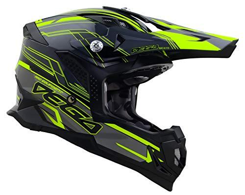 Vega Helmets Unisex-Adult Off-Road MCX Lightweight Fully Loaded Dirt Bike Helmet (Black Stinger Graphic, LG)