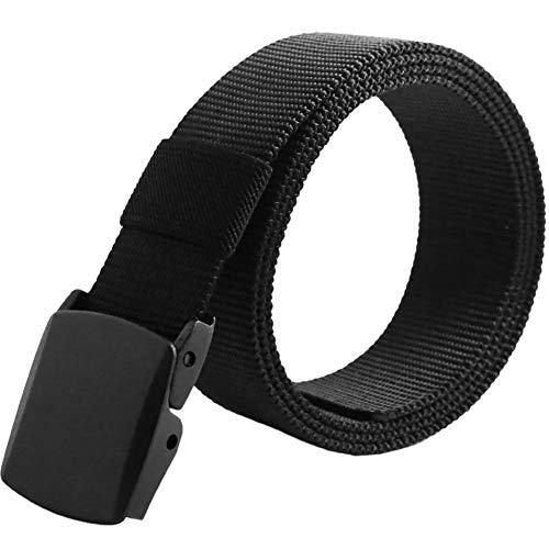 Sawpy - Cinturón de Cintura táctico - Cinturón de Nailon Duradero para Hombre al Aire Libre Deportes Hebilla de plástico Escalada Caza Cinturón de Lona Cinturón