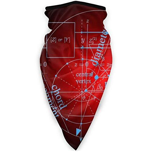 AISIJD Matemáticas y Física Fórmula al aire libre Boca Máscara a prueba de viento Deportes Máscara Esquí Escudo Bufanda Pañuelo Hombres Mujer