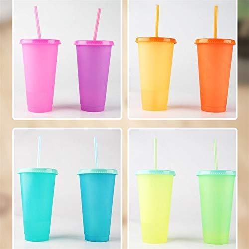 ZYSTMCQZ Caldera plástico Reutilizable, Temperatura de Cambio, Frío Copa de la Magia Taza de Jugo de café, 450ml (Capacity : 0.45L, Color : Pink)
