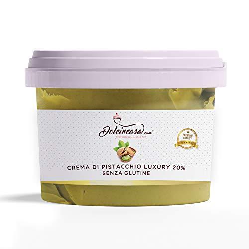 Crema al Pistacchio Luxury 20% di Pistacchi – 500gr Ottima Crema Spalmabile Senza Glutine