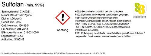 S3 Chemicals Sulfolan (min. 99%) Gebindegröße 100ml