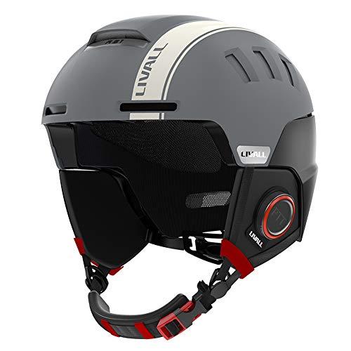 LIVALL Smart Skihelm RS1 Bluetooth Snowboardhelm für Männer Frauen Jugend Schneehelm mit Audio, SOS Alert, Walkie-Talkie/Push-to-Talk