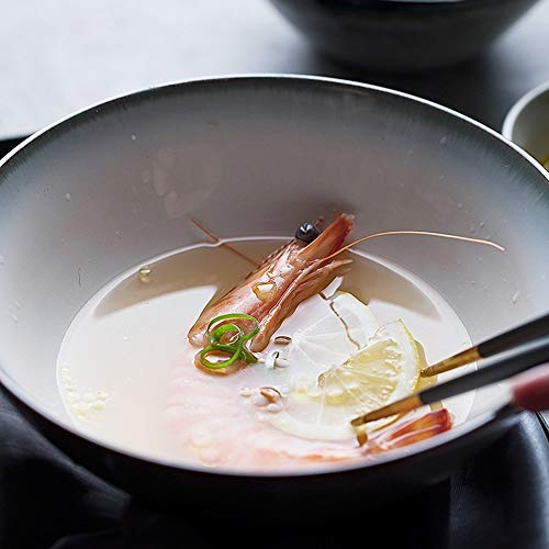 Mzxun Continental desayuno un tazón de cerámica/tazones de fideos fríos/soperas/cuencos de verduras/Ronda creativa ensaladeras fruta/cuencos de postre