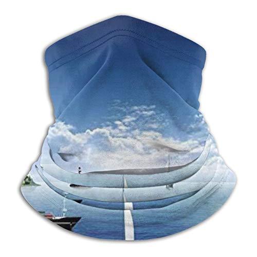 longdai Seascape - Pañuelo de microfibra con nubes de barco vacías, para correr al aire libre
