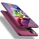 X-level Samsung Galaxy M51 Hülle, [Guardian Serie] Soft Flex TPU Hülle Superdünn Handyhülle Silikon Bumper Cover Schutz Tasche Schale Schutzhülle für Samsung Galaxy M51 - Weinrot