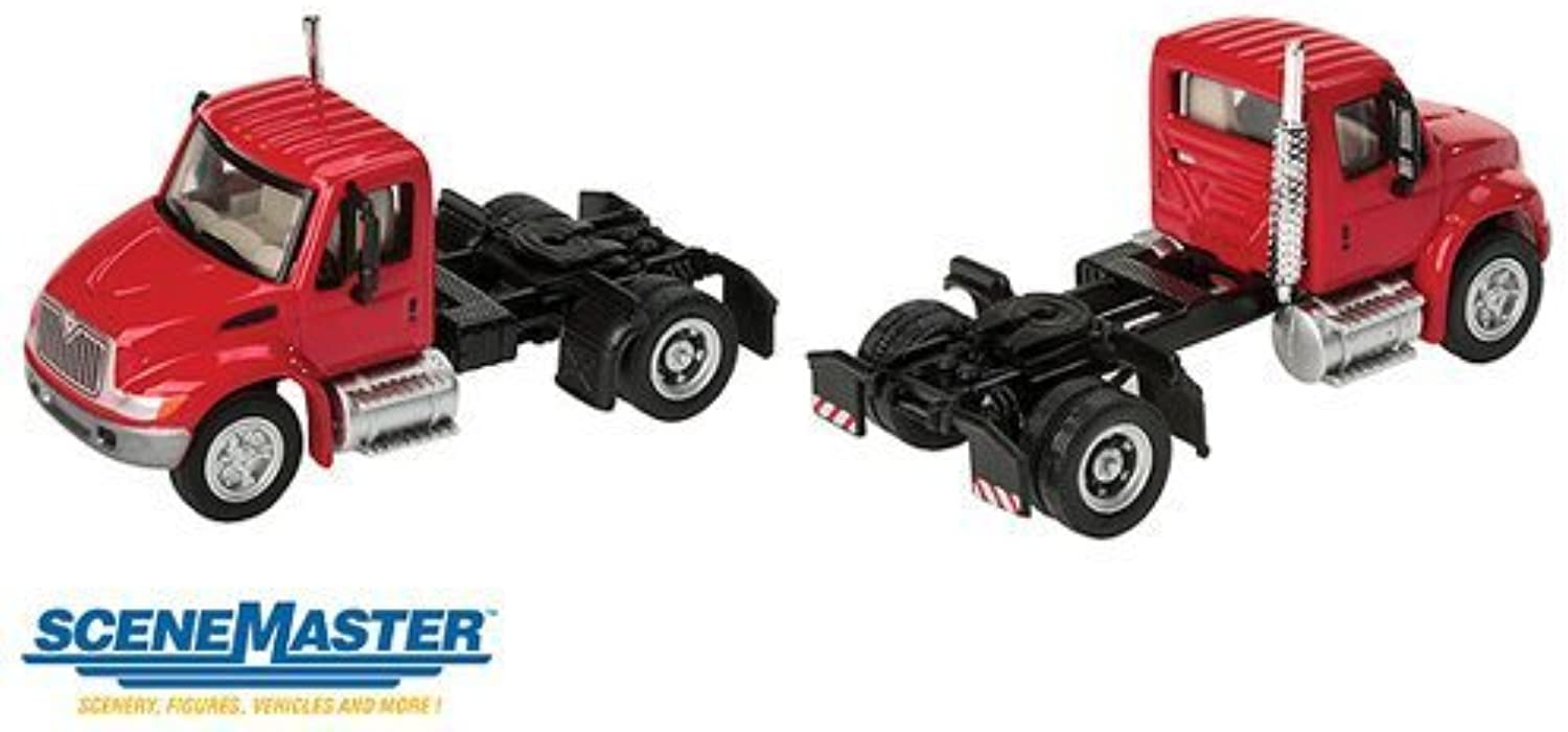 Walthers SceneMaster International 4300 1Axle Tractor, Red by Walthers SceneMaster
