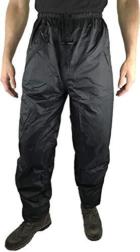 HOCK Unisex Regenhose Fahrrad 'Comfort Klima' mit verstärktem Gesäß - Radsport Regenbekleidung 100% Wasserdicht für Herren und Damen Regenschutz (M, Schwarz)