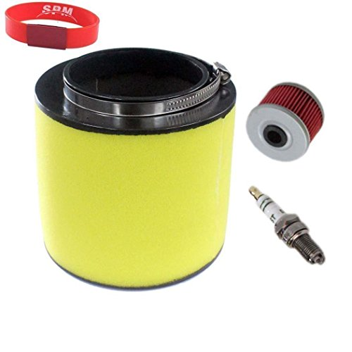 SPM Air Filter Oil Filter Spark Plug for Honda FourTrax 300 TRX300 2x4 TRX300FW 4x4 Tune Up Kit