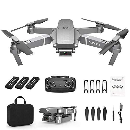 Hunpta@ Drohnen mit Kamera, 2.4G Selfie WiFi FPV Faltbarer RC Quadcopter mit 720P/ 1080P/ 4K-Weitwinkelkamera HD Kamera, mit 1/ 2/ 3 Batterie, Flugzeit 12-15 Minuten (1080P, 3 Batterie)