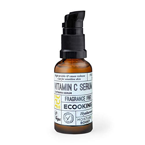 ECOOKING Vitamin C Serum, Vegan und Parfümfrei, Hoher Vitamin C Gehalt, Feuchtigkeits- und Kollagenkick, 20 ml