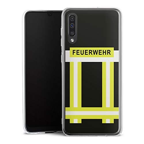 DeinDesign Hard Hülle kompatibel mit Samsung Galaxy A50 Schutzhülle transparent Smartphone Backcover Feuerwehr Feuerwehrmann Beruf