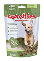 Coachies treats are a low-calorie, oven-baked treat that is highly palatable, wheat free and contains Omega 3 & 6; these treats can be fed from 8 weeks