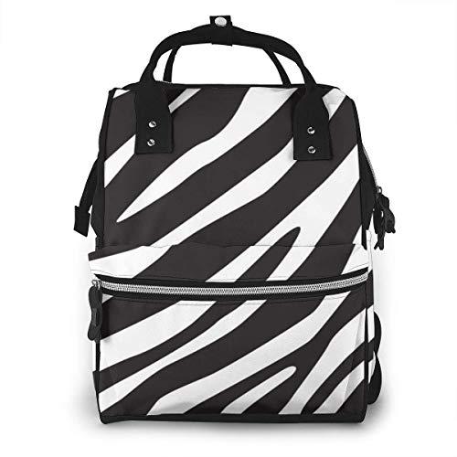 Huid Zebra Print Luiertas Mode Waterdichte Multi-Functie Reizen Rugzak Grote luiertassen Mummy Rugzak voor Baby Zorg
