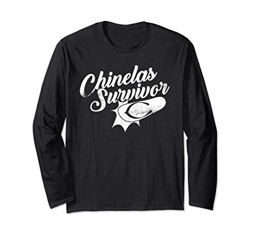 Funny Best Chinelas Tsinelas Slippers Survivor Filipino Gift Long Sleeve T-Shirt