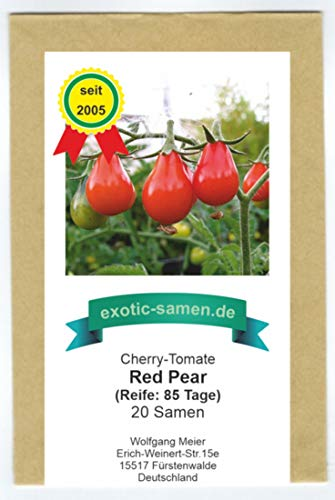 Rote Mini-Tomate in Birnenform - red Pear-Tomate - rotes Birnchen - 20 Samen