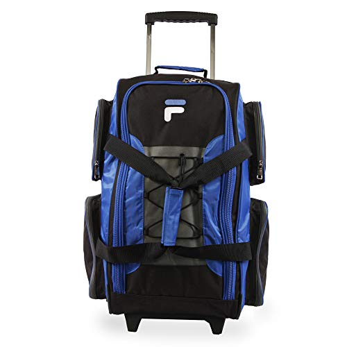 Fila 22' Lightweight Carry On Rolling Duffel Bag,  Blue,  One Size