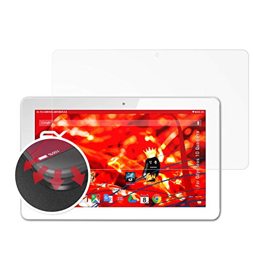 atFolix Schutzfolie kompatibel mit Odys Ieos 10 Quad Pro/Ieos Next 10 Folie, entspiegelnde & Flexible FX Bildschirmschutzfolie (2X)