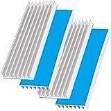 Akuoly Juego de 4 aletas de aluminio para disipador de calor para PC, con cinta adhesiva térmica, para amplificador, transistor semiconductor, 70 mm x 22 mm x 6 mm, color plateado