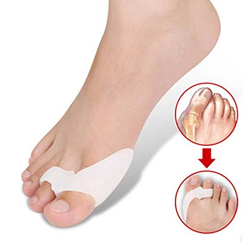 One Pair Silicone Footful Foot Pain Relief Hallux Valgus Big Toe Gel Toe Separators Stretchers Bunion Splint Spacer Alignment Straightener Corrector Stretchers Hammer Toes and Tailor